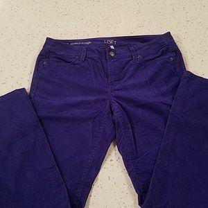 Ann Taylor Loft purple corduroy 10P
